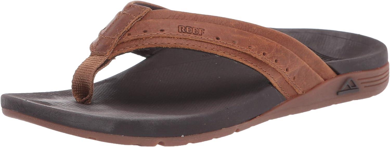 Reef Men's Leather Ortho-Spring Flip-Flop
