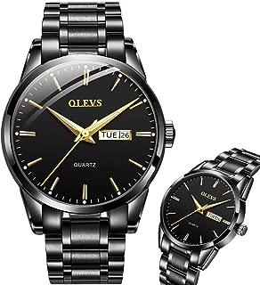 Men's Watch,OLEVS Day and Date Wrist Watch for Men Waterproof Analog Quartz Watch,Stainless Steel Mens Classic Dress Watch Roman Wrist Watch