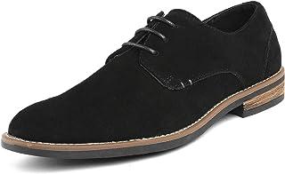Bruno Marc Men's URBAN-08 Black Suede Leather Lace Up Oxfords Shoes - 11 M US
