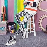 bayrick Explosión de Moda,Sección Delgada Moda Color Imprimir Pantalones Yoga Pantalones Elásticos Tight Silk Seda Nueve Puntos-5_45-70kg