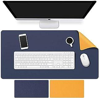 ColorBlocks Desk Pad, Office Desk Mat, 40cm x 80cm PU Leather Desk Blotter, Laptop Desk Mat, Waterproof Desk Writing Pad f...