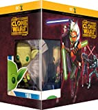 Star Wars: The Clone Wars (Complete Seasons 1-5) - 22-DVD Box Set & Yoda FUNKO Figurine ( Star Wars: Clone Wars - Seasons One to Five (108 Episodes) ) [ NON-USA FORMAT, PAL, Reg.2 Import - France ]