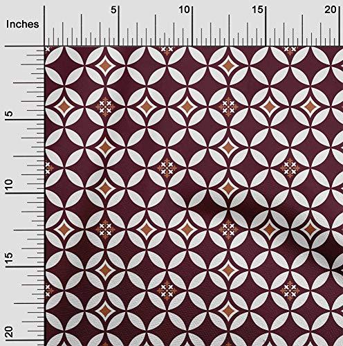 oneOone Flex Algodón Tela florales y azulejos Marroquí Coser Labores De Artesanía Impresiones De Tejidos Por Metros 40 Pulgadas De Ancho