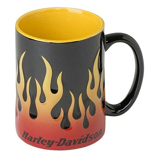 9b65704ffe0 Harley-Davidson Core Sculpted Flames Coffee Mug, 15 oz. - Black HDX-
