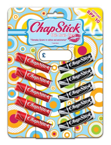 ChapStick Original and Strawberry Tent Card - Pack of 10