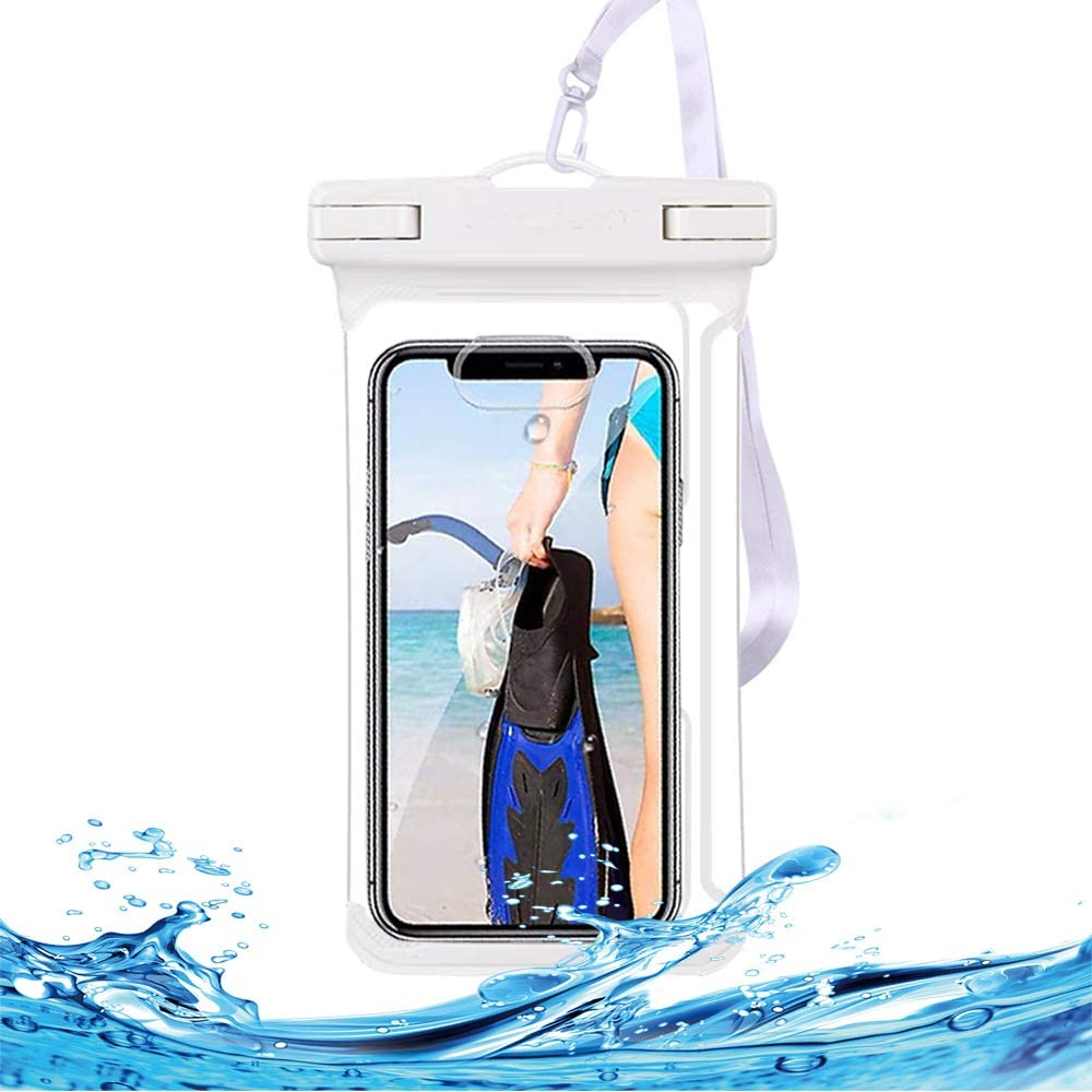 HUAG Universal Waterproof Case IPX8 Waterproof Phone Pouch Cellphone Dry Bag for iPhone 12 Pro Max 11 Pro Max Xs Max XR XS X 8 7 6S Plus SE, Galaxy S20 Ultra S10 S9 S8/Note 10 9 up to 7.0