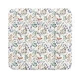 Ceba Baby Wickelauflage weiche Wickelunterlage Baby Wickeltischauflage Abwaschbar 75x70 Rowanberry