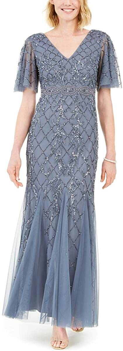 Adrianna Papell Women's Covered Bead Gown