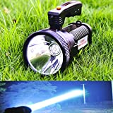 Odear Super Bright Torch Searchlight Handheld Portable LED Spotlight USB Rechargeable Flashlight for Mining,Camping, Hiking, Fishing