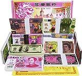 300-400 pezzi antenati soldi paradiso inferno morte commemorazione monetaria meditazione banca paradiso e terra banca giada imperatore origami carta incenso bruciando dollaro statunitense euro