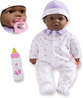 JC Toys African American 16-inch Medium Soft Body Baby Doll La Baby | Washable |Removable Purple Outfit w/ Hat and Pacifie...
