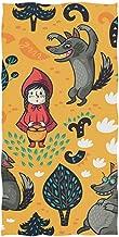 Dliuxf Patrón de Caperucita Roja Lobo Árbol Floral Toalla de Baño Suave Toallas de Mano Absorbentes Baño