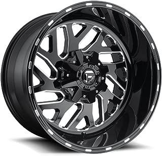 FUEL Off-Road Wheels: Triton (D581) - Gloss Black Milled; 20x10 Wheel Size, 8x170 Lug Pattern, 125.1mm Hub Bore, 18mm Off Set.