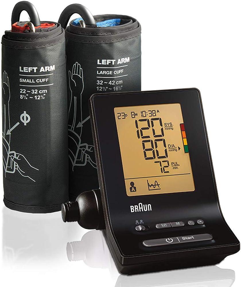 Braun exactfit 5 bp6200, misuratore automatico della pressione da braccio, con bracciale a 2 misure BP-6200