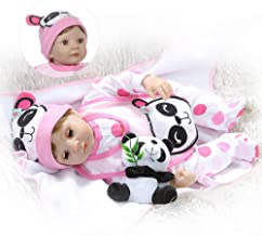 iCradle Real Bebe 22 Inch 55cm Soft Stuffed Body 1/4 Silicone Limbs Reborn Baby Doll Eyes Blink Sweet Girl Baby Doll Toy for Ages 3+