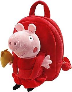 Peppa Pig Cute Cartoon Red Shoulders Baby Kindergarten Bag