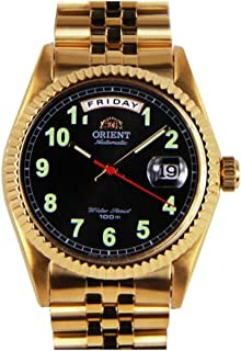 SEV0J007BH - Orient Oyster Men's Automatic 21 Jewels, 100m Water Resistant, Calendar, Stainless Steel, Golden