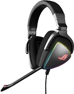 ASUS 90YH00Z1 B2UA00 Asus ROG Delta RGB gaming headset with Hi Res ESS Quad DAC, circular RGB lighting effect and USB C co...