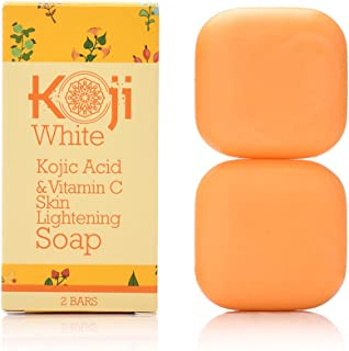 Koji White Kojic Acid & Vitamin C Brightening Soap (2.82 oz / 2 Bars) - Smooth And Soft Complexion For Face & Body