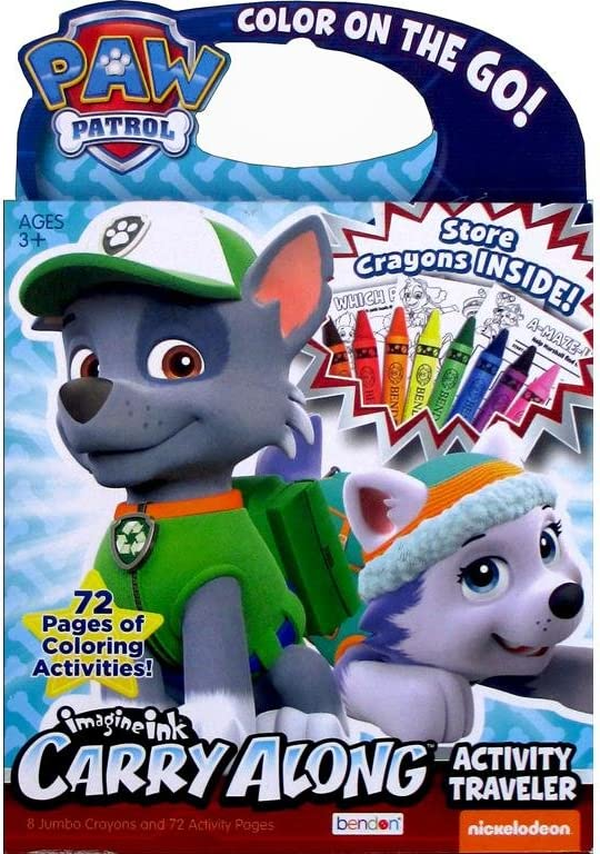 Bendon BDN36323 Carry Along Traveler w Houston Mall Paw Patrol security Crayons