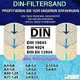 TOP1 25 KG MEINPOOL24.DE FILTERSAND FILTERKIES DIN-FILTERSAND 0,63-1,25 MM