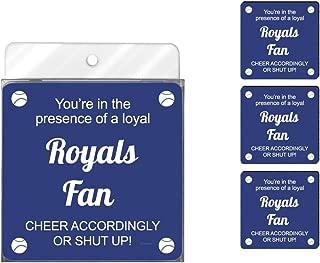 Tree-Free Greetings NC38089 Royals Baseball Fan 4-Pack Artful Coaster Set