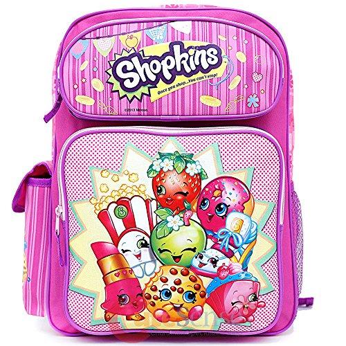Shopkins Large School Backpack 16' Girls Book Bag