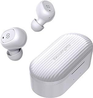 SoundPEATS(サウンドピーツ) TrueFree+ ワイヤレスイヤホン AAC対応 Bluetooth 5.0 完全ワイヤレス イヤホン 35時間再生 自動ペアリング 左右独立型 マイク内蔵 両耳通話 防水 小型 軽量 TWS ブルートゥース ヘッドホン トゥルーワイヤレス ヘッドセット [メーカー1年保証] (ホワイト)