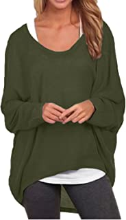 Women's Batwing Sleeve Off Shoulder Loose Oversized Baggy...