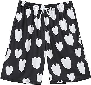 TSSOE Men Hearts Printed Boxer Shorts Lounge Short Pants Pyjama Shorts Bottoms with Pockets