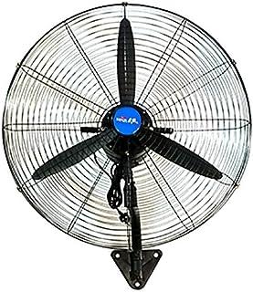 Koovin Ventilador Industrial de Pared-Ventilador de Pared Giratorio con oscilación de 130 ° / 3 velocidades Ajustable, inclinación Ajustable