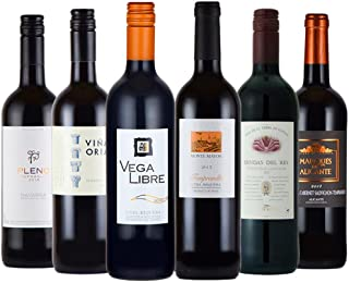 スペイン 産 赤 ワインセット 全て ミディアムボディ の デイリーワイン 750mlx6本 コラム入り