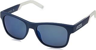 faea8bcfd00 Óculos Lacoste L829Snd 424 Azul Fosco Branco Lente Azul Flash Tam 54