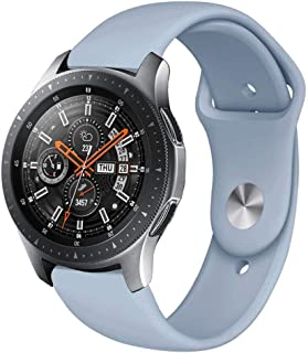 Ffx Monochrome Silicone Strap for Samsung Galaxy Watch Active 20mm(Creamy Whiteei) (Color : Light Blue)
