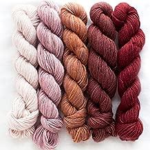 Manos Del Uruguay Silk Blend Fino Mini-Skein Set 5 Eleanor, 5 x 20g, Merino Silk Hand Dyed Yarn