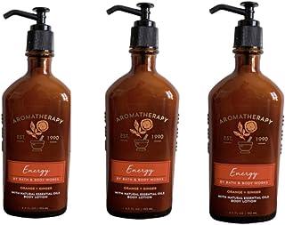 Bath & Body Works Aromatherapy Energy - Orange + Ginger Body Lotion, 6.5 Fl Oz, 3-Pack