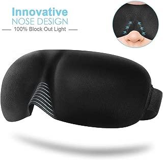 Eye Mask for Sleeping, PaiTree Sleep Mask for Men Women, 100% Block Out Light, Comfort and Lightweight, Adjustable 3D Contoured Eye Cover for Travel, Shift Work, Naps (Black)