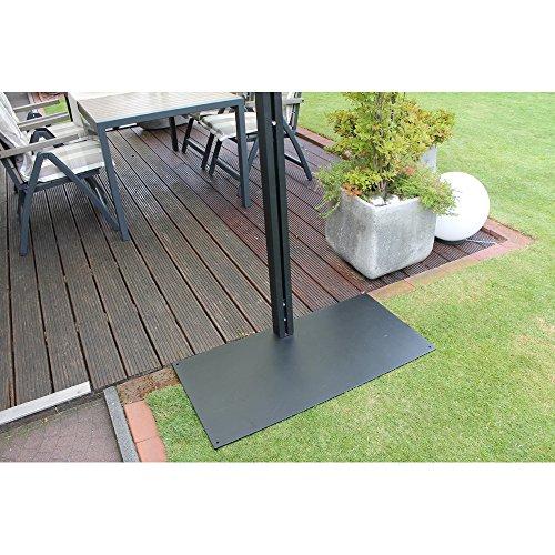 Leco 28100103 Design Doppelmarkise, Aluminium mit Pulverbeschichtung in anthrazit / schwarz / metallic, 100 % Polyester in natur - 2