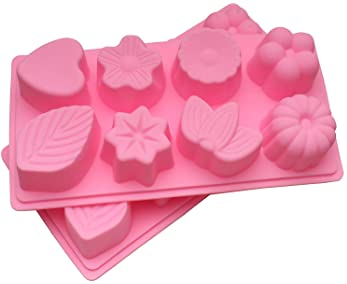 Heart Shape DIY Project Mold Rectangular Mold Red color Soap Making Molds 8 Diamond Cut Cavity Heart Silicone Soap Mold Handmade Soap