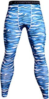 Men's Camo Compression Pants Baselayer Running Tights Cool Dry Elasticity Moisture Wicking Workout Sport Leggings,D,S