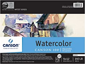 Canson 400061697 Plein Air Watercolor Art Board Pad for Watercolor, Ink, Gouache and Acrylic, 8 x 10 Inch, Set of 10 Board...