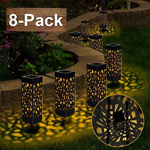 【8 Stück 】Solarleuchten Garten, Vivibel Solar Gartenleuchte IP65 Wasserdichte, Solarlampen für Garten Solarleuchte Dekoration Licht für Außen Fahrstraßen Sicherheits Lichter Garten Patio Rasen