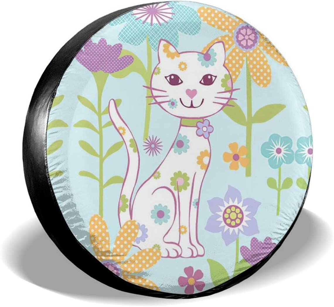 Soldering HTRHA Cute Floral cat Spare Protection dus Cover Waterproof tire Branded goods