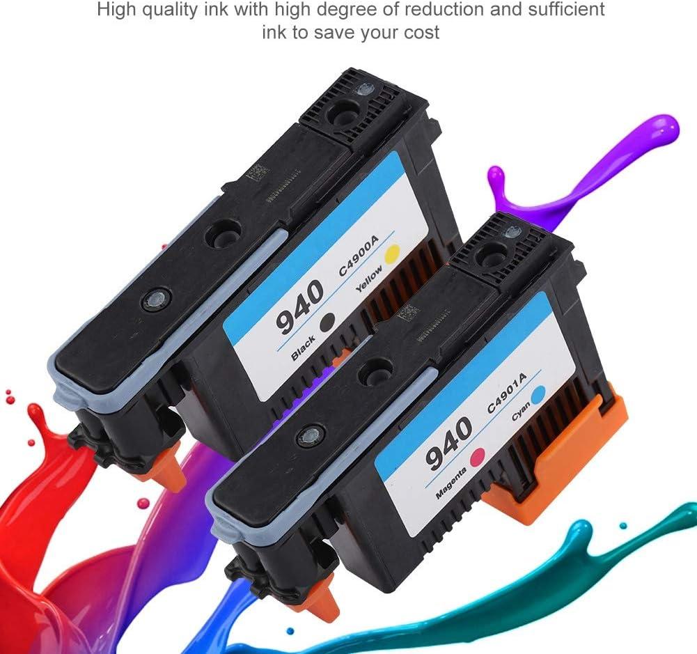 Testina di Stampa Stampa Uniforme Nessuna inceppamento della Carta Stampante a Inchiostro Denash Testine di Stampa per HP 940 C4900A C4901A per Serie 8000 8500 Nero Giallo