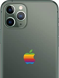 LE 8-BIT Retro Lisa Apple Rainbow Logo iPhone 11 Pro Decal Sticker for The iPhone 11 Pro Max iPhone Xs iPhone XR