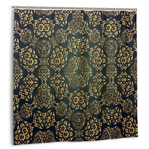 Duschvorhang,Indien,Muster,Hintergründe,Art Deco,Federstoff Badezimmer Dekor Set mit Haken 150cmx180cm