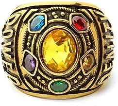 Egyptian Pharaoh Mysterious Ring Avengers The Infinity War Stones Gauntlet Ring Diamond Rhinestone Zircon Ring