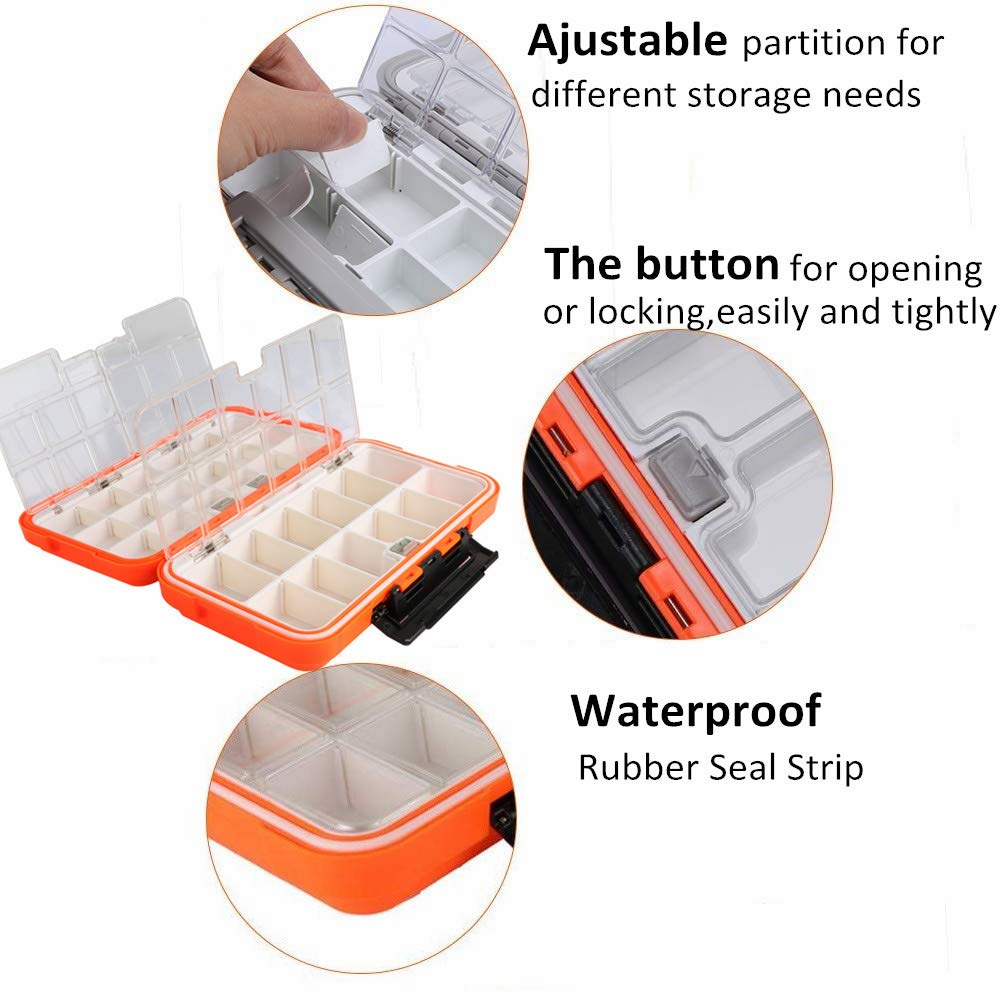 Tackle Box Lure Case Plastic Lightweight 2 Layer Design Partition Device Small