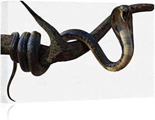 Actorstion King Cobra Snake with Cliping Path Canvas Prints Wall Art,090881,16