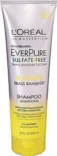 L'Oreal Paris Hair Care Expertise Everpure Blonde Shampoo, 8.5 Fluid Ounce